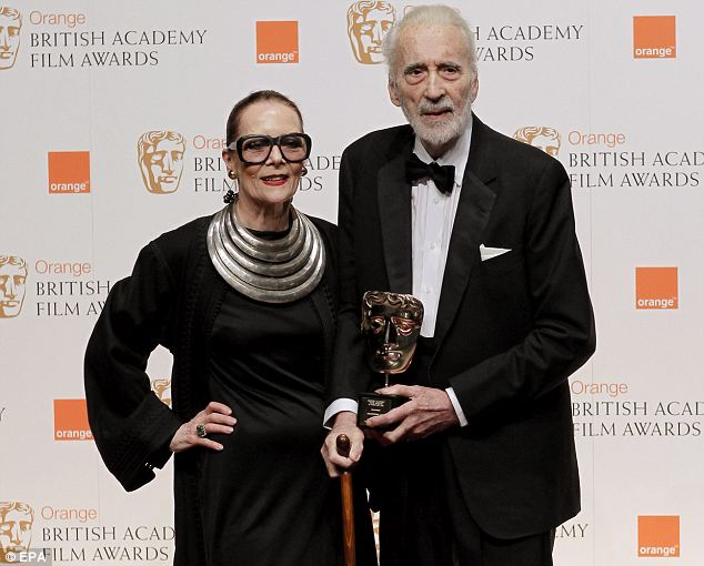 Christopher Lee with beautiful, Wife Gitte Lee