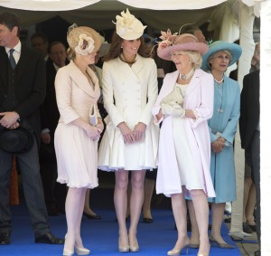 royals in nude pumps